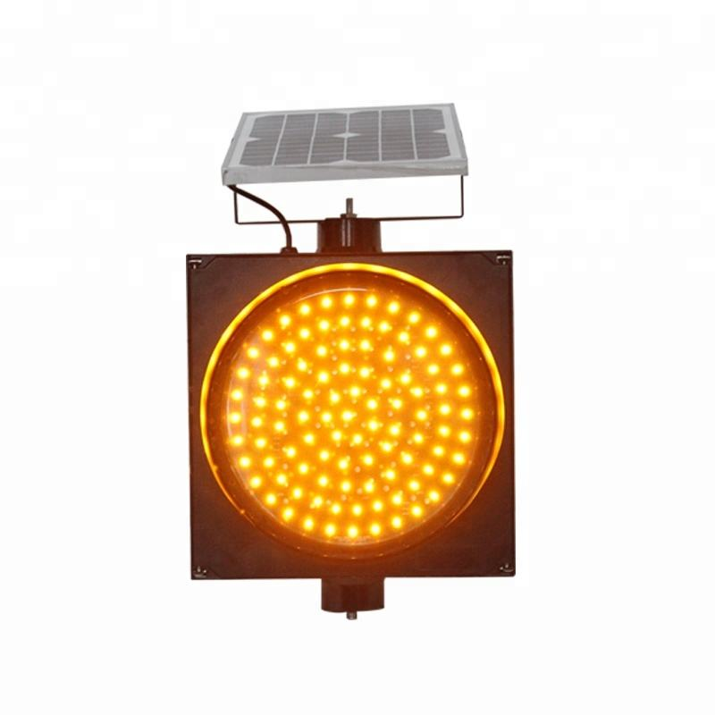 300mm yellow LED flashing signal solar warning light
