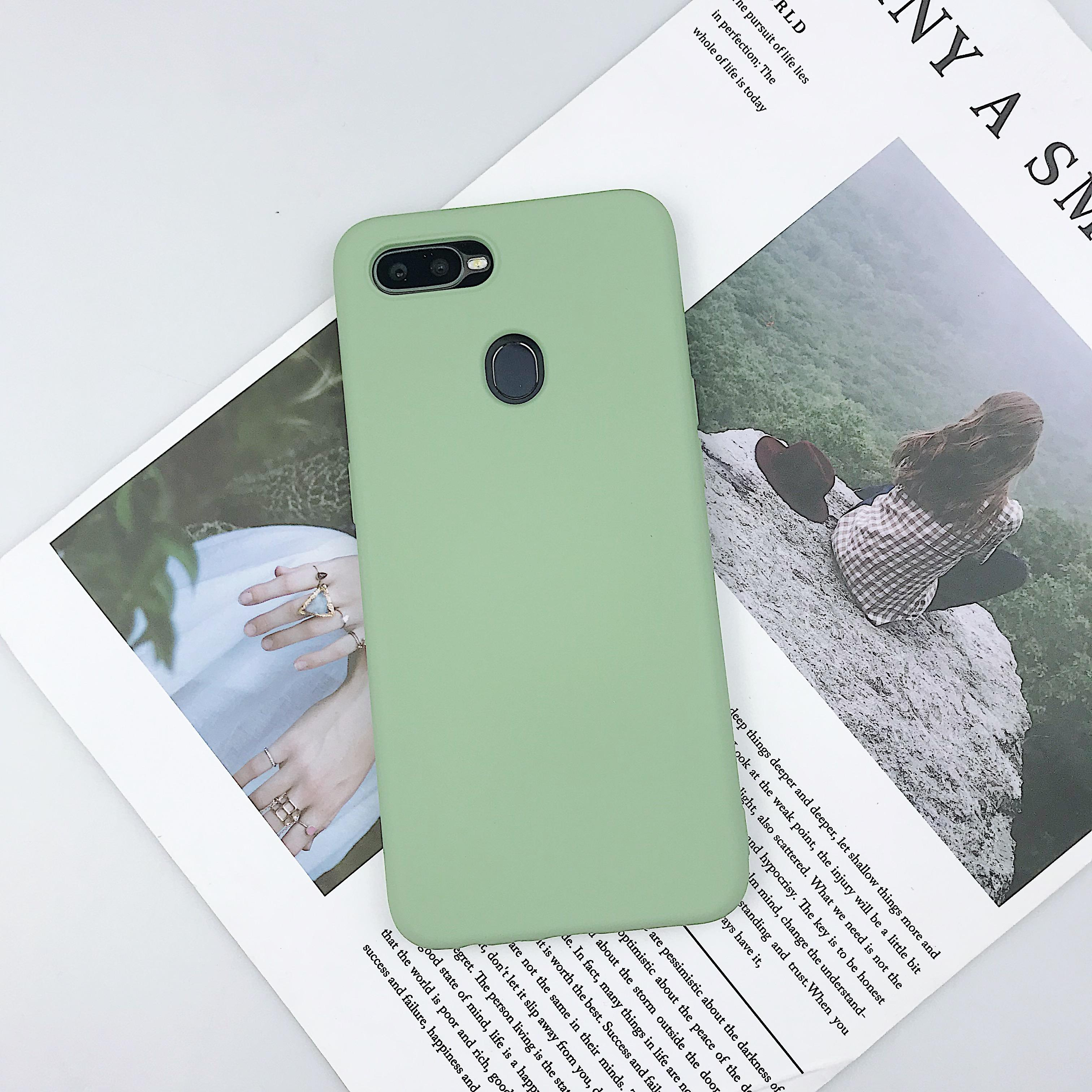 Fashion Pure Colour Siliconen Smart Phone Case Voor Xiaomi Redmi Note 7 Back Cover