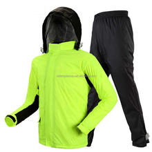 Motorcycle Rain Coat Pants Set Protective Gear