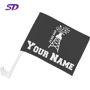 Waterproof and durable outdoor polyester pole sublimation car window flag
