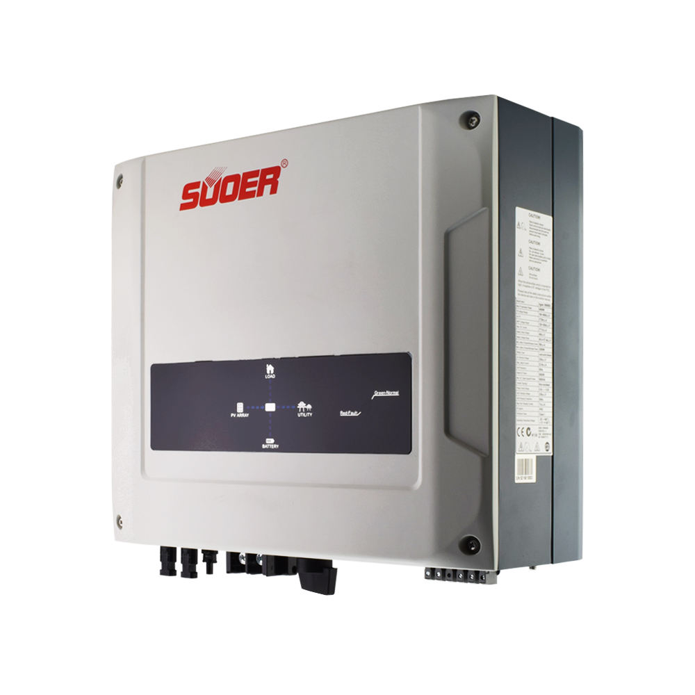 Suoer 5000 w on off grid tie อินเวอร์เตอร์ 5kw MPPT hybrid solar battery energy storage inverter
