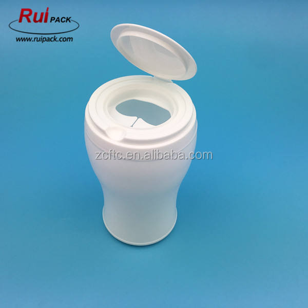 Empty PE material wet wipes tube