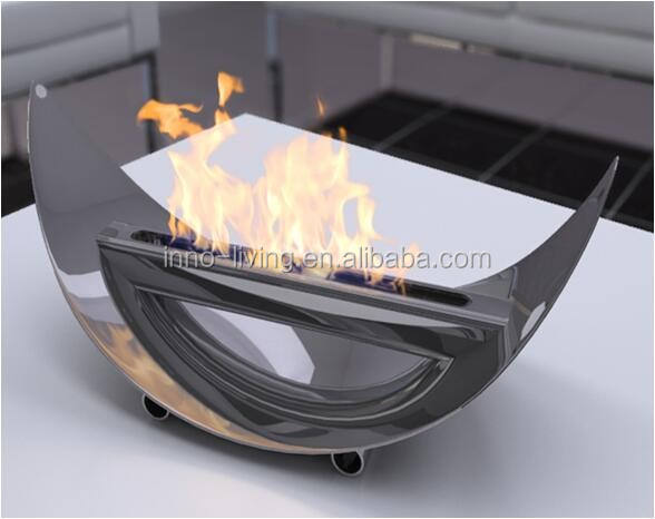 Stainless steel bio ethanol tabletop fireplaces