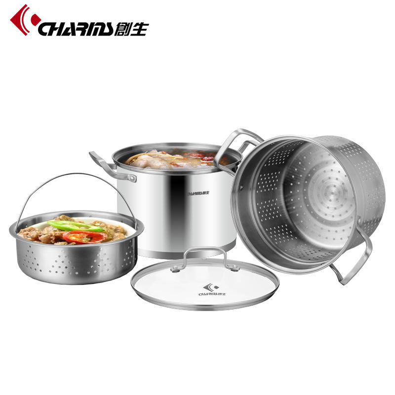 Multi-Use Noodle Pot Tall Stainless Steel Pasta Pot With Strainer