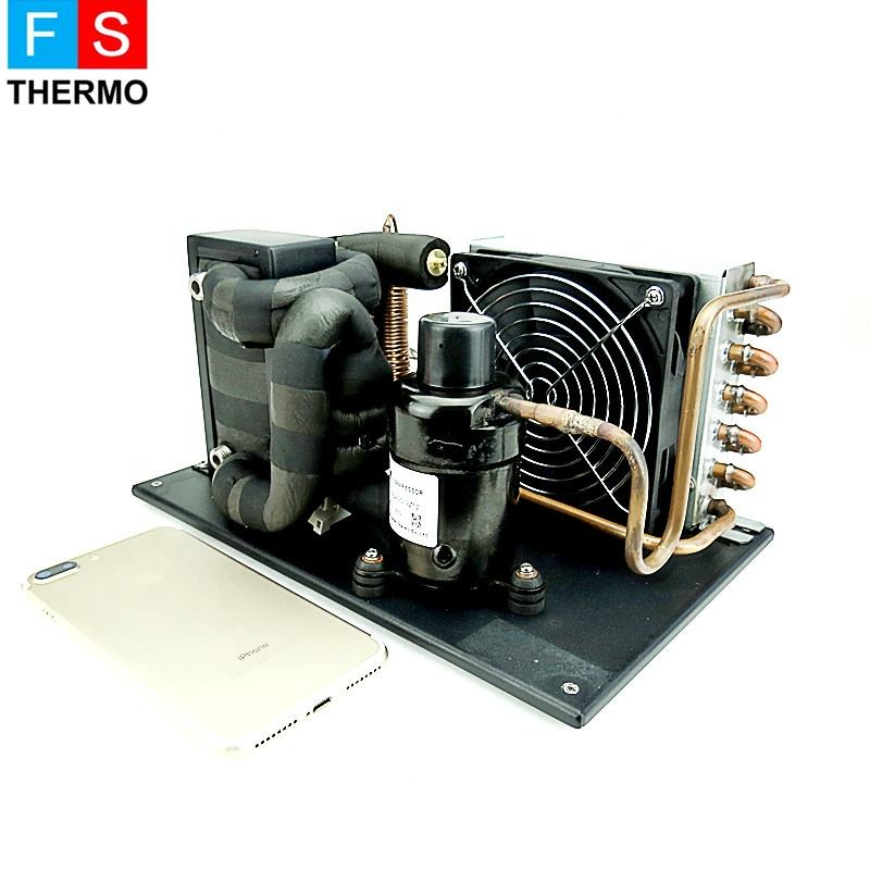 r134a mini marine refrigeration system compressor condensing unit for portable chiller
