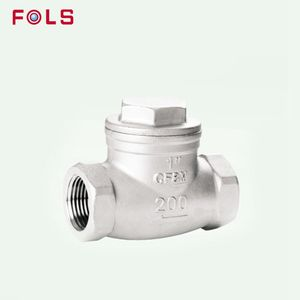 1/4-3 inch stainless steel ss304 ss316 thread/flange/butt weld/socket weld/clamp swing check valve