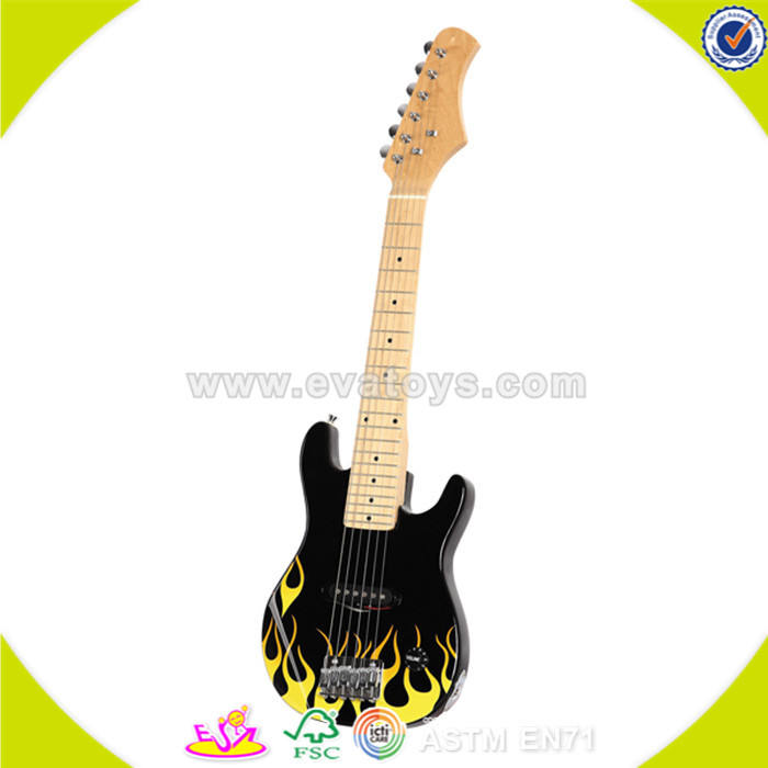 wholesale popular wooden kids guitar cheap children wooden toy guitar W07H007