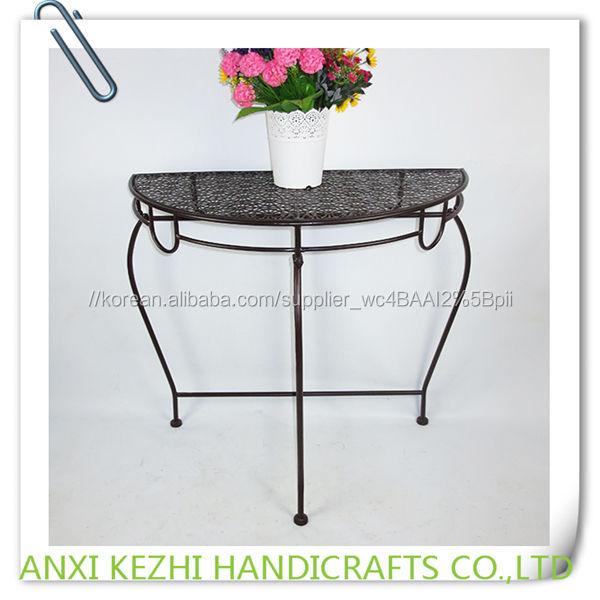 KZ150204 금속 철 접이식 반 테이블
