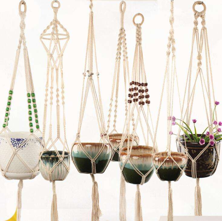 Handmade cotton Macrame Plant Hanger Indoor & outdoor Plant Hanger Home Decoration