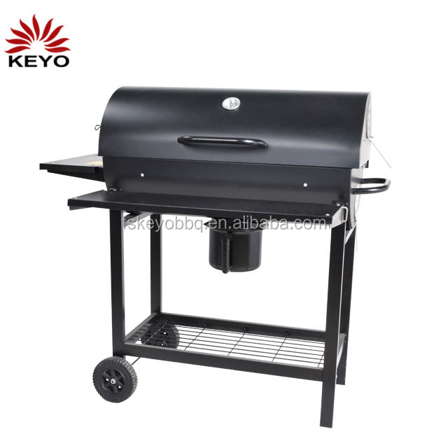 china factory Camping Outdoor barrel bucket bbq grill big large Trolley Charcoal BBQ Barbecue Grills