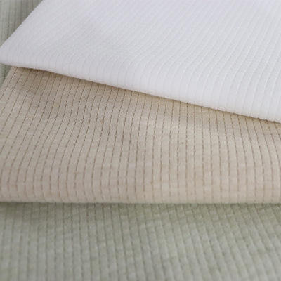 Solid Color Knitted Natural Jacquard Cotton Fabric