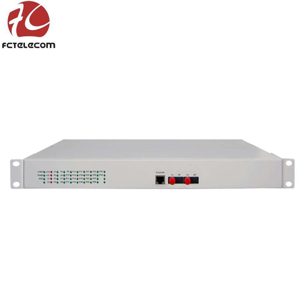 1Pair 4 CH PCM Voice Tel Fiber Optical Media Extender with 100M Ethernet 20KM SM