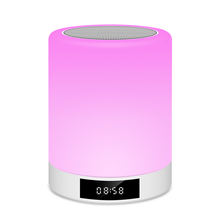 China supplier good quality portable color changing led touch table reading light bluetooth smart led lamp speaker with clock
