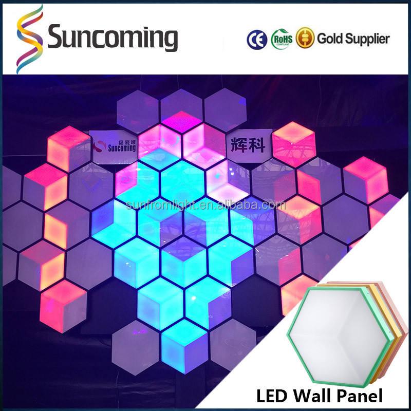 Productos patentados Panal 3D Night Club Panel Ecualizador <span class=keywords><strong>Led</strong></span> Etapa Del Disco de Iluminación
