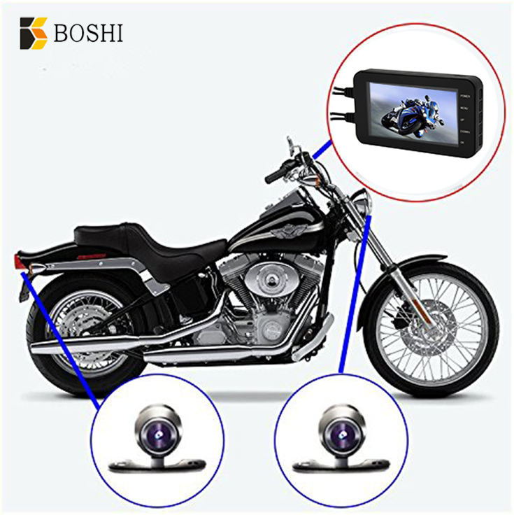 4.0 inch HD display screen 1080P motorcycle recorder waterproof action camera for motorcycle wifi dvr