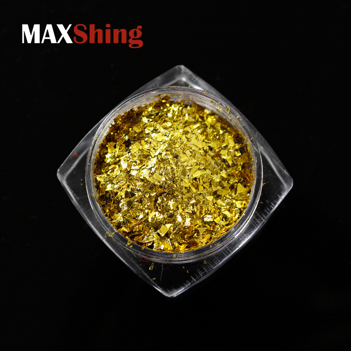 flake glitter manufacture gold flakes foil metal flake for nail polish and car paint