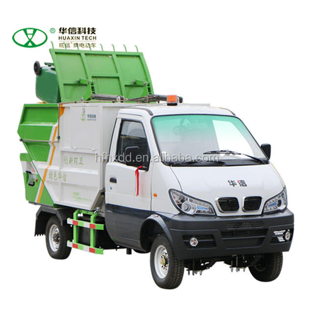 1tons battery operated garbage collection compact truck,rear loading and dump vehicle