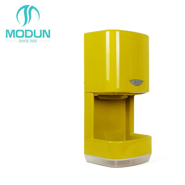 1200w High Speed Warm Air Restroom Auto Sensor Electric yellow Hand Dryer