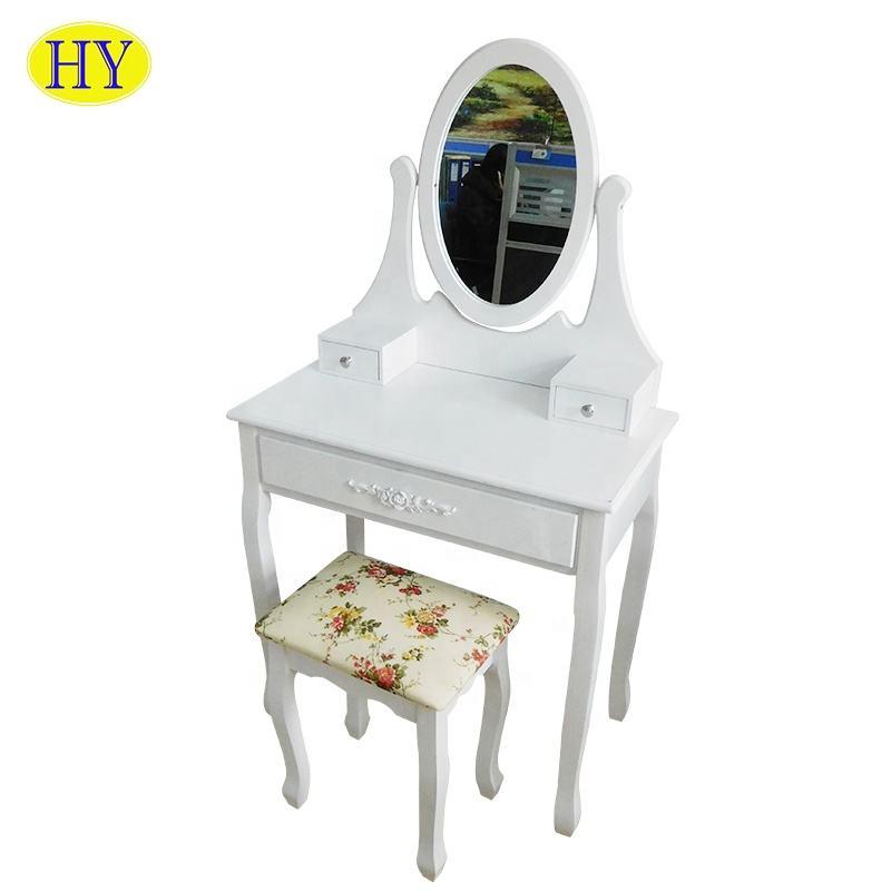 Настраиваемый туалетный столик с ящиками макияж комод с зеркалом