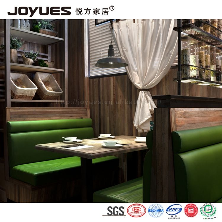 Restaurant booth sofa en eettafel set, luxe meubels lederen restaurant booth sofa