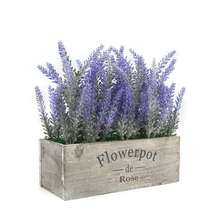 Artificial purple Flower Potted wholesale lavender artificial bonsai flower Plant for Home Decoration