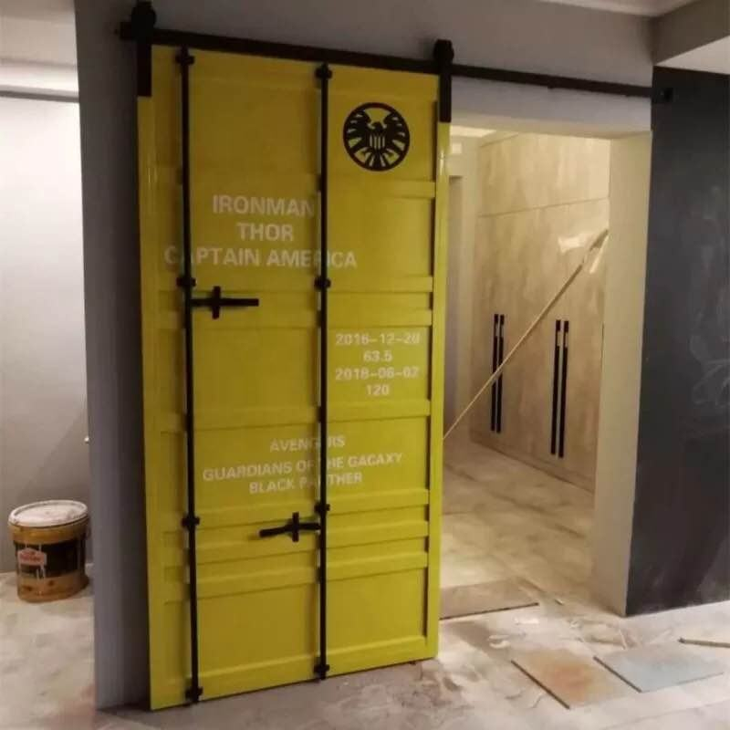 sliding barn door , industrial furniture,shipping container door with barn door hardware