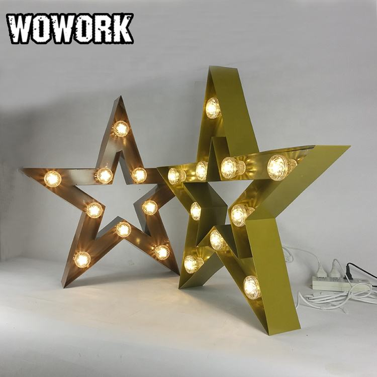 WOWORK Las Vegas photography decor waterproof led letter props lighted lamp