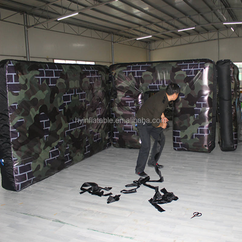 Commercial inflatable paintball arenas for bunkers obstacle game