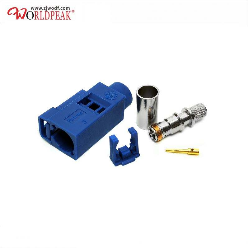 Smb Female Jack Fakra Free Hanging In Line Crimp Socket 50ohm Connector Auto Parts Waterproof Connectors For Rg58 Coaxial Cable