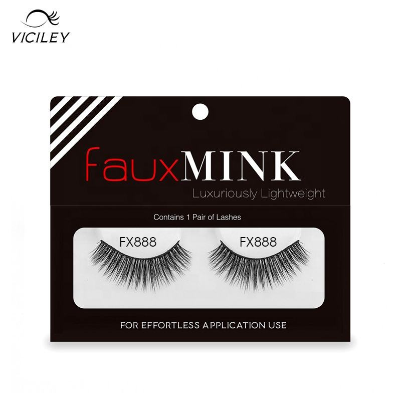 Wholesale 3D Faux Mink Synthetic Hair hand made false eyelashes/top eyelash vendors