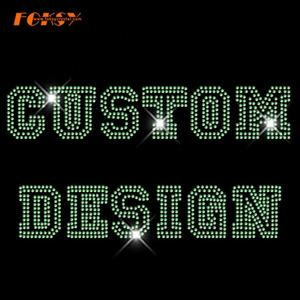 Strass Transfer Hot Fix Custom Design Motiv Großhandel Für Dame Shirt