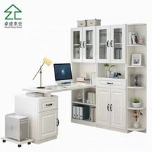 Modern White Corner Wooden Computer Desk Office Study Table for Home Office