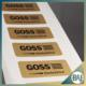 Adhesive matte round corner golden color PP product label sticker