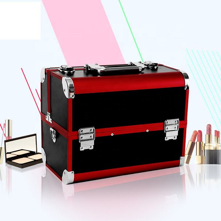 Wholesale professional beautiful travel aluminum makeup case for makeup artist