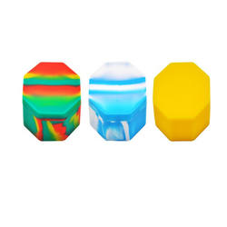 Nonstick silicone wax containers silicone jars dab box container storage jar oil holder for vaporizer vape FDA approved
