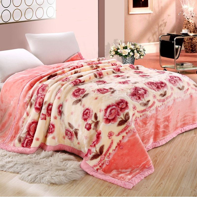 Cheap raschel wholesale acrylic mink blanket
