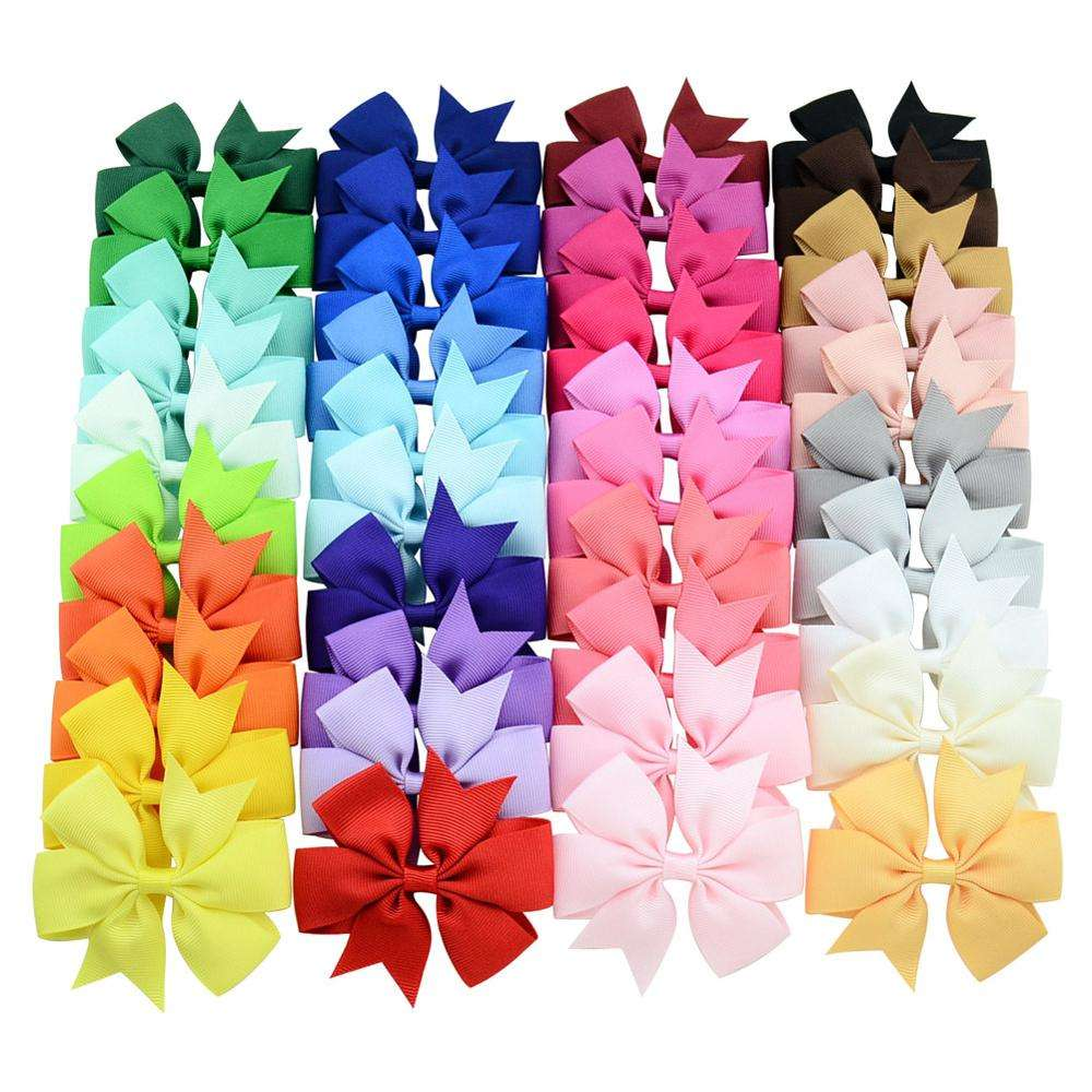 HSDRibbon Wholesale Solid Six corners colorful grosgrain ribbon hair bow