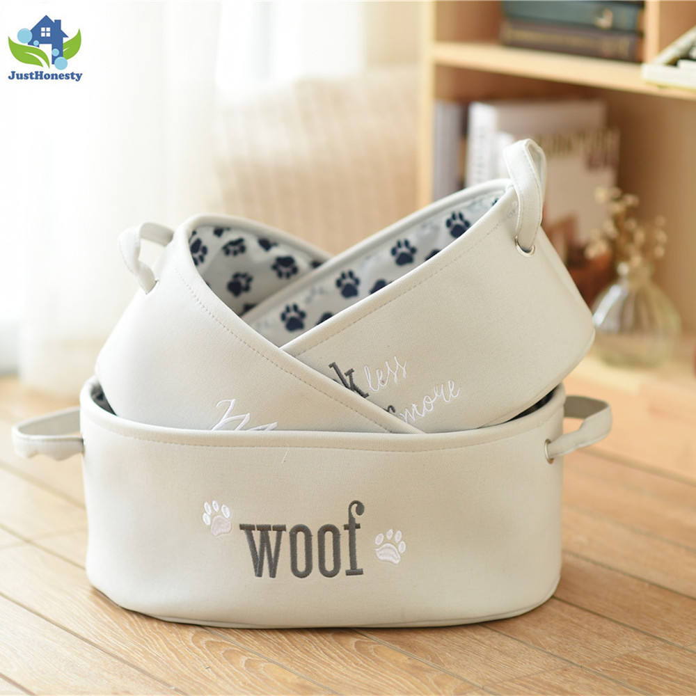 New style Dog toy storage box with handle ,OEM sample accepted toy box storage bin