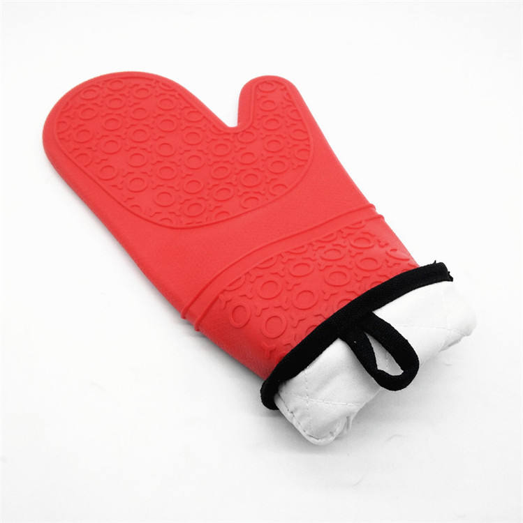 Heat Resistant BBQ Silicone Oven Gloves Mitt with Cotton Lining