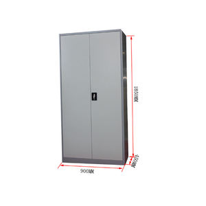 Heavy duty steel chemical storage cabinet with 2 door
