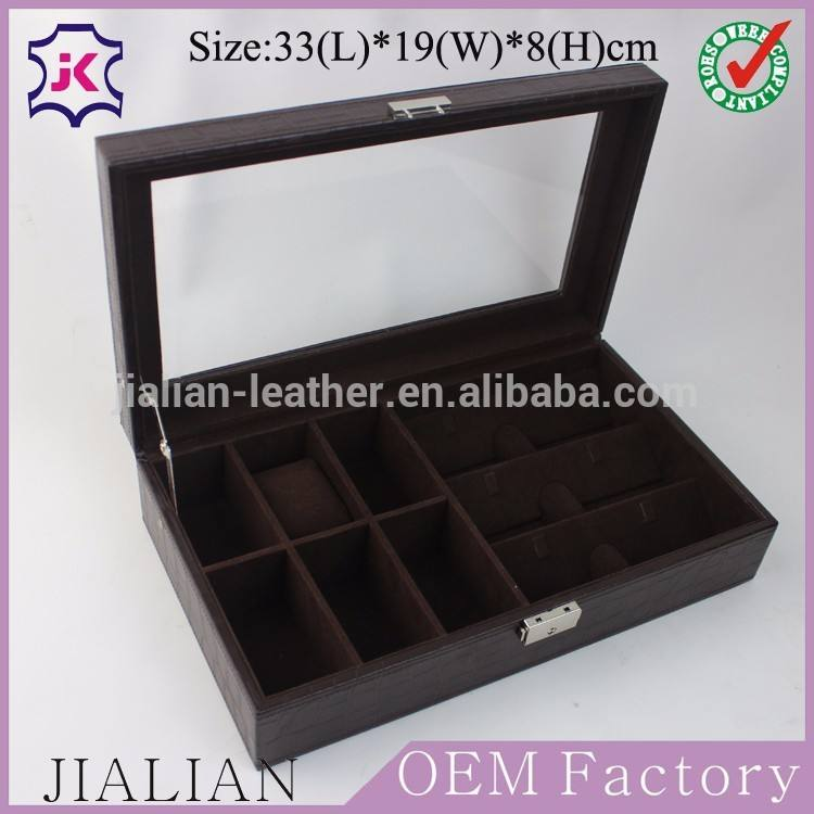 Haute Qaulity luxe multifonctionnel voyage en cuir boîtes de montres pour hommes, Montre en cuir boîtes de rangement