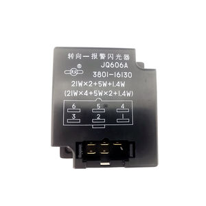 Spare parts electronic flasher relay JQ606A for SANY XCMG ZOOMLION