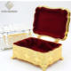 Square Metal Jewelry Ring Box Tulip Design Metal Gold Plated Square Shape Decorative Rings Jewelry Box
