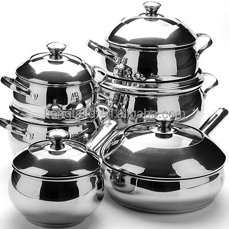 12pcs Stainless Steel thomas inox cookware set