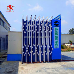 Portable Retractable Spray Painting Booth With Water Curtain