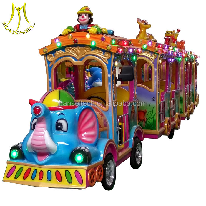 Hansel 2018 New Arrival amusement park trains rides kids electric small tourist trains for sale