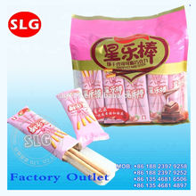 chocolate,milk,strawberry coated stick biscuits