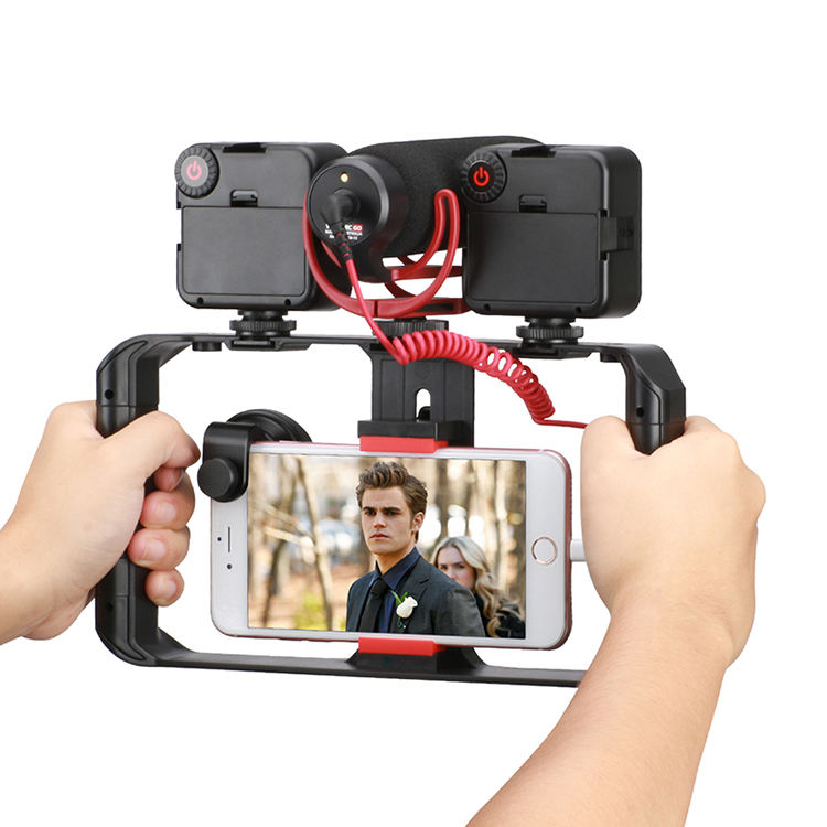 Ulanzi Smartphone Video Rig Filmmaking Recording Vlogging Rig Case Phone Movies Mount Stabilizer