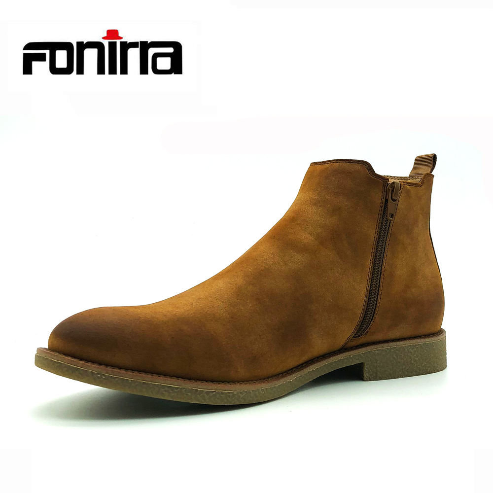 New Fashion Design Men Ankle Boots High Quality Low MOQ Chelsea Boots Men