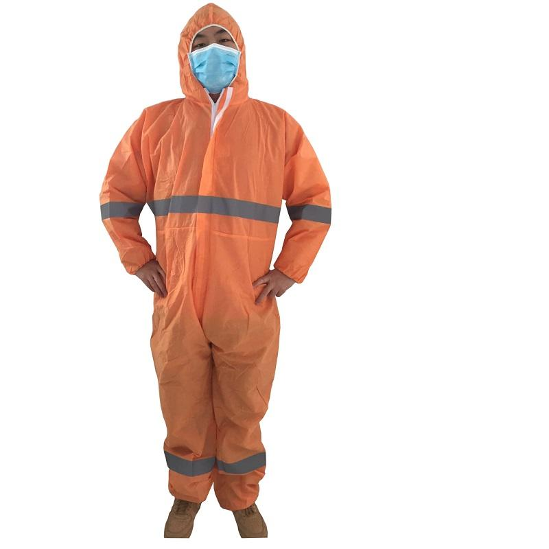 WORKWEAR Product Type and Windproof PP microporous SF disposable work shop lab cleanroom safety coverall with hood